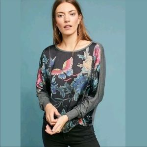 Anthropologie Tiny butterfly top